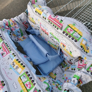Bevásárlókocsi huzat övvel , Játék & Gyerek, 3 éves kor alattiaknak, Bevásárlókocsi huzat, Varrás, Meska