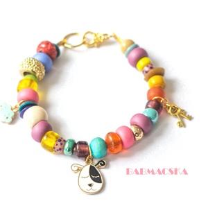 Aranyos kutyaimádóknak  - Pandora stílusú charm karkötő - Meska.hu