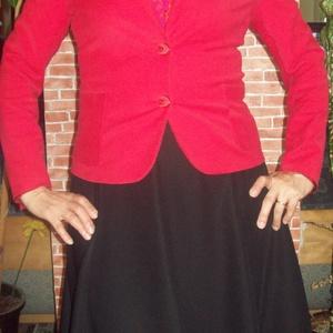 Fekete loknis szoknya, Táska, Divat & Szépség, Női ruha, Ruha, divat, Szoknya, Varrás, Már az iskolakezdésre gondolva készült ez a fekete loknis szoknya. \n\n8 részből szabott, bélésselyemm..., Meska