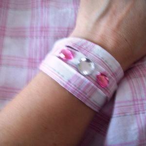 Rózsaszín-fehér kockás, loknis nyári szoknya (babujka) - Meska.hu
