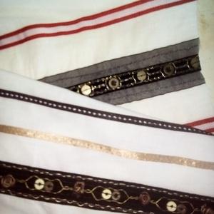 Nyári vászon, különleges mintával, Textil, Nagyon különleges mintája van ennek az alapjában véve fehér nyári könnyű anyagnak.   Hosszában, szat..., Meska