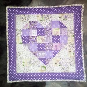 Falikép a lila szín szerelmeseinek, Otthon & Lakás, Dekoráció, Kép & Falikép, Patchwork, foltvarrás, Meska