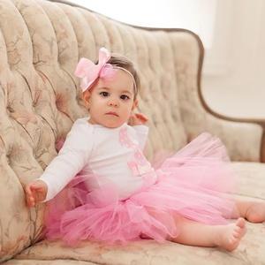 Szülinapi babaruha, tütüs szett, rózsaszín flamingó (BabyAngel) - Meska.hu