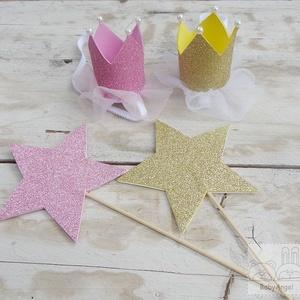 Szülinapi babaruha, tütüs szett, rózsaszín koronás (BabyAngel) - Meska.hu