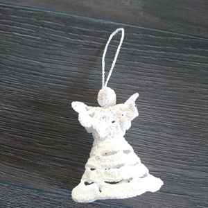 Horgolt angyalka karácsonyfadísz (babyboomclothes) - Meska.hu