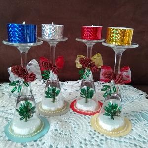 Karácsonyi mécses, Otthon & Lakás, Karácsony & Mikulás, Karácsonyi dekoráció, Gyöngyfűzés, gyöngyhímzés, Ez a különleges és egyedi mécses központi dísze lehet a megterített karácsonyi asztalnak, karácsonyi..., Meska
