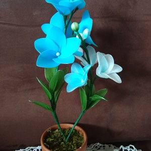 Orchidea harisnyából - Meska.hu