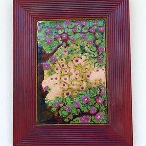 Tűzzománc kép , Kép & Falikép, Dekoráció, Otthon & Lakás, Tűzzománc, Ötvös, \nKedves, színes, festőzománc technikával készült \nKeret: 15 cm x 19 cm \nképlemez: 9 cm x 13 cm ..., Meska