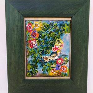 Tűzzománc kép. , Művészet, Festmény vegyes technika, Festmény, A virágba boruló természet csipetnyi szeletét ajánlom figyelmetekbe, ahogyan én látom!  Tűzzománc ké..., Meska