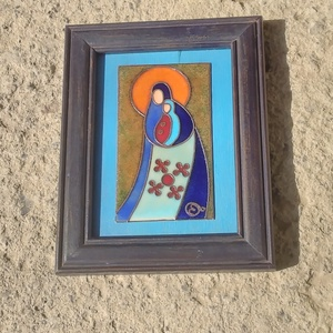 Tűzzománc kép Madonna, Otthon & Lakás, Dekoráció, Kép & Falikép, Tűzzománc, Meska