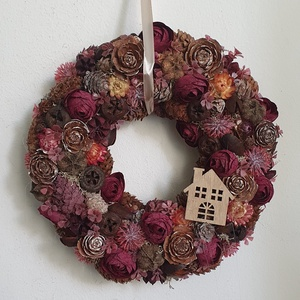Őszi ajtódísz , Otthon & Lakás, Dekoráció, Ajtódísz & Kopogtató, Virágkötés, Meska