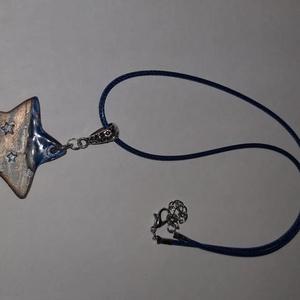 Csillag alakú medálos nyaklánc, Ékszer, Ékszerszett, Kerámia, Csillag alakú medálos nyaklánc. , Meska