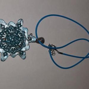 Türkiz bronzos  nagy méretű medálos nyaklánc, Ékszer, Ékszerszett, Türkiz bronzos  nagy méretű  medálosos nyaklánc.  Postázása egyedi megbeszélés alapján. , Meska