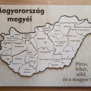 Magyarország megyéi és megyeszékhelyei Puzzle játék, Játék & Gyerek, Társasjáték & Puzzle, Famegmunkálás, Gravírozás, pirográfia, Gyönyürű szép kivitelezésű Magyarország megyéi és megyeszékhelyei.\nA Magyarország megyéi és megyeszé..., Meska