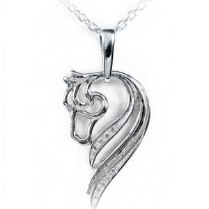 Ezüst köves ló medál, Ékszer, Nyaklánc, Medál, Ötvös, Ezüst köves ló medál\n\n925-ös ezüstből\nszélesség: 16 mm\nmagasság: 30 mm\nCirkónia kövekkel foglalva.\n\n..., Meska