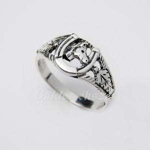 Lófejes patkó gyűrű kicsi, Ékszer, Gyűrű, Figurális gyűrű, Ötvös, Ezüst lófejes patkó gyűrű\n\nEzüst színű vagy aranyozott lójejjel és levelekkel. \nszélessége: 10 mm\n\nG..., Meska
