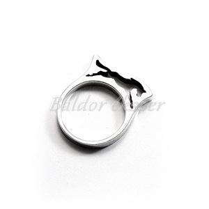 Ezüst ugró ló gyűrű, Ékszer, Gyűrű, Figurális gyűrű, Ötvös, Ezüst ugró ló gyűrű\n\nszélessége: 3 mm\nhossza: 21 mm\nmagassága: 6 mm\nGyűrű mérete tetszőlegesen válas..., Meska