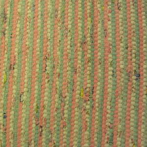 Kedves pasztell színű., Otthon & Lakás, Lakástextil, Szőnyeg, Szövés, Kézi szövőszéken készítettem ezt a rongyszőnyeget.\nHalványzöld-halvány rózsaszín-fehér színek váltak..., Meska