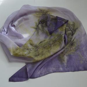 Lilaecet selyemsál (ballagemma) - Meska.hu