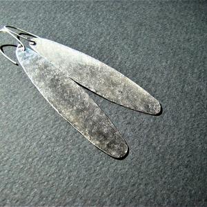 Nyírfa termés - kalapált ezüst fülbevaló (bambusz) - Meska.hu