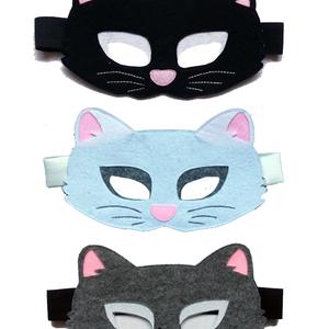 Macska/cica álarc és farok farsangi, halloweeni jelmezhez több színben - RENDELHETŐ (banikomuhelye) - Meska.hu