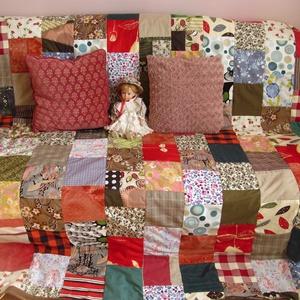 színes kockák kavalkádja patchwork takaró (Banyamanufaktura) - Meska.hu