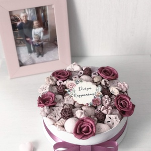 Anyák napi virágbox  Drága Nagymamámnak felirattal , Otthon & Lakás, Dekoráció, Asztaldísz, Mindenmás, Virágkötés, Az Anyák napi szárazvirágbox egy különleges virágbox, amely nem hervad el. Kizárólag természetes al..., Meska