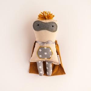 Sztár Kapitány, csillag mintás szuperhős baba, Ember, Plüssállat & Játékfigura, Játék & Gyerek, Baba-és bábkészítés, Mérete: kb. 25 cm\n, Meska