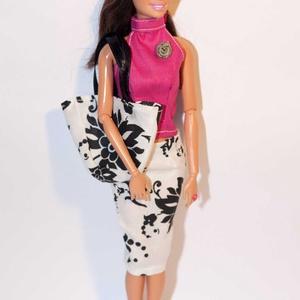 Barbie ruhakészítő csomag Szűk szoknya és Nyakpántos Felső, DIY (leírások), Szabásminta, útmutató, Varrás, A csomag segítségével a képen látható barbie szoknyát és felsőt készítheted el. Két anyagot tudsz vá..., Meska