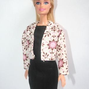 Barbie ruha készítő csomag Szűk ruha és Kiskabát, DIY (leírások), Szabásminta, útmutató, A csomag segítségével a képen látható ruhát és kabátot készítheted el barbie babának. Két anyagot tu..., Meska