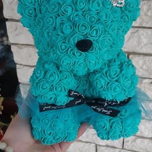 Kék tüllös rózsa maci, Esküvő, Egyéb, Otthon & lakás, Mindenmás, \n\nEgyedi Rózsa maci.\nÖrök élet.\nIdeális ajándék gyerekeknek, babáknak, pároknak is névnapra, szülina..., Meska