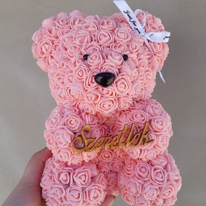Barack szeretlek 25cm rózsa maci, Csokor & Virágdísz, Dekoráció, Otthon & Lakás, Mindenmás, \nEgyedi Rózsa maci.\nÖrök élet.\nIdeális ajándék gyerekeknek, babáknak, pároknak is névnapra, szülinap..., Meska