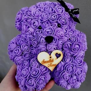 Anyák napi rózsa maci, Otthon & Lakás, Dekoráció, Mindenmás, Egyedi Rózsa maci.\nÖrök élet.\nIdeális ajándék gyerekeknek, babáknak, pároknak is névnapra, szülinapr..., Meska