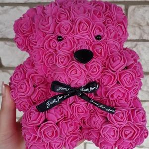Pink rózsa maci, Csokor & Virágdísz, Dekoráció, Otthon & Lakás, Ékszerkészítés, Mindenmás, Ha valami különlegeset keresel..\nTökéletes anyák napi ajándék\nEgyedi Rózsa maci\nÖrök élet.\nIdeális a..., Meska