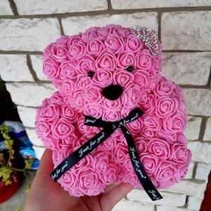 18cm rózsa maci, Esküvő, Gyerek & játék, Otthon & lakás, Mindenmás, Egyedi Rózsa maci.\nÖrök élet.\nIdeális ajándék gyerekeknek, babáknak, pároknak is névnapra, szülinapr..., Meska