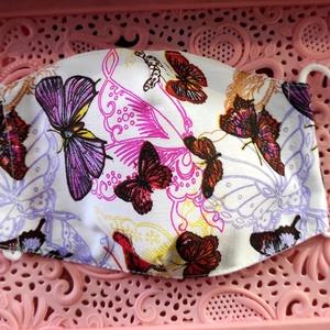 Pillangós textil maszk, Maszk, Arcmaszk, Varrás, Felnőtt textil maszk\nÁllítható, archoz igazodó.\nA vevő felelősségére sima elsőbbségi levélként is ké..., Meska