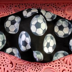 Focilabdás textil maszk, Maszk, Arcmaszk, Varrás, Felnőtt focilabdás textil maszk\nÁllítható, archoz igazodó.\nA vevő felelősségére sima elsőbbségi levé..., Meska