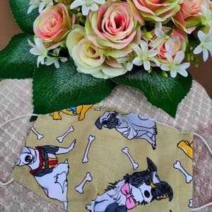 Vegyes kutyusos textil maszk, Maszk, Arcmaszk, Varrás, Felnőtt textil maszk\nÁllítható, archoz igazodó.\nA vevő felelősségére sima elsőbbségi levélként is ké..., Meska