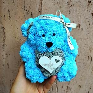 Kék szürke rózsa maci, Otthon & Lakás, Dekoráció, Mindenmás, Ha valami különlegeset keresel..\nTökéletes anyák napi ajándék\nEgyedi Rózsa maci\nÖrök élet.\nIdeális a..., Meska
