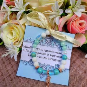 Tanúfelkérő / koszorúslány angyal karkötő, Esküvő, Emlék & Ajándék, Ékszerkészítés, Meska