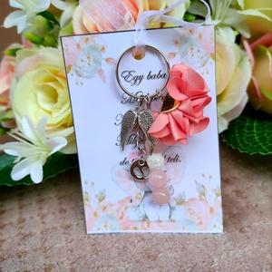Babaváró ajándék kulcstartó rózsaszín, Játék & Gyerek, Babalátogató ajándékcsomag, Babaváró ajándék kulcstartó rózsaszín A kis kártyára kérhető név is! Megjegyzésben kell feltüntetni!..., Meska