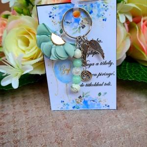 Babaváró ajándék kulcstartó világoskék, Játék & Gyerek, Babalátogató ajándékcsomag, Babaváró ajándék kulcstartó világoskék A kis kártyára kérhető név is! Megjegyzésben kell feltüntetni..., Meska
