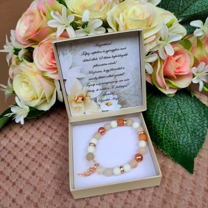 Rose gold angyalszárnyas nude szülőköszöntő örömanya karkötő, Esküvő, Emlék & Ajándék, Szülőköszöntő ajándék, Rose gold angyalszárnyas nude szülőköszöntő örömanya karkötő Kérhető menyasszony illetve vőlegény vá..., Meska
