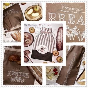 Baguette, frissen tartó, kétrétegű kenyereszsák, keresztszemes hímzéssel és csipkével (barbijoe) - Meska.hu