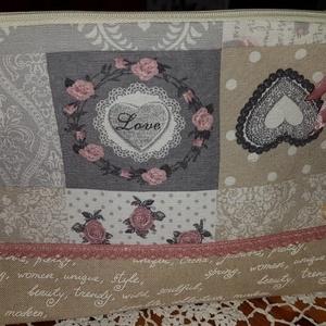 Neszesszer, Neszesszer, Táska & Tok, Varrás, Vintage stílusban készült neszeszer 31x20 cm méretben, vastag loneta vászonból készült csipkével dís..., Meska