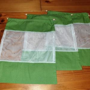 Öko-zacskó Nowaste, Táska & Tok, Zöldség/Gyümölcs zsák, Bevásárlás & Shopper táska,  35x27 cm ökozacskó erős anyagból vászonnal kombinálva készült.Két oldalt összehúzható a húzást gyön..., Meska