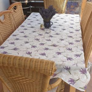 Asztalterítő, Lakberendezés, Otthon & lakás, Lakástextil, Terítő, Varrás, Loneta vászonból készült asztalterítő 136x180 cm. Romantikus hangulatú anyagból akár hétköznapokra,a..., Meska