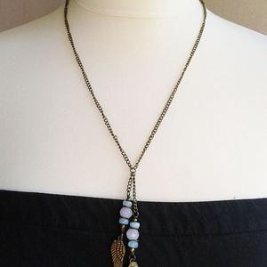 Angyalszárnyak - vintage nyaklánc féldrágakövekkel - ékszer - nyaklánc - hosszú nyaklánc - Meska.hu