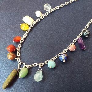 Színes Egyéniség - féldrágakő nyaklánc, Ékszer, Gyöngyös nyaklác, Nyaklánc, Ékszerkészítés, Meska
