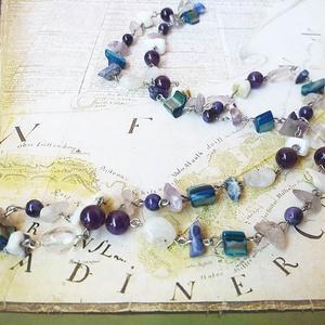 Víz Elementál - köves nyaklánc, Ékszer, Nyaklánc, Hosszú nyaklánc, Ékszerkészítés, Meska